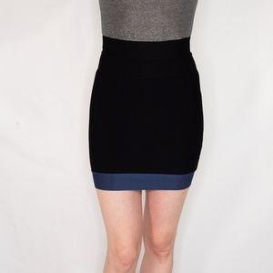 HERVE LEGER Bandage Black Mini Skirt 0757